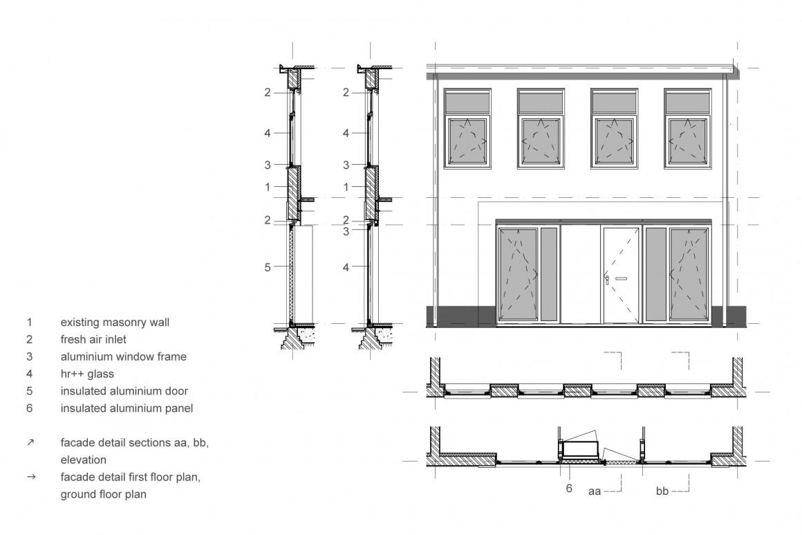 hofjeswoningen westeinde by studio suit facade detail