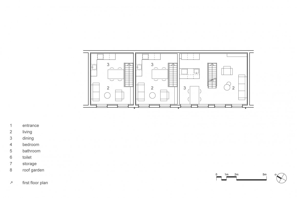 hofjeswoningen westeinde by studio suit first floor plan