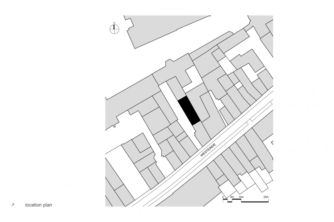 hofjeswoningen westeinde by studio suit location plan